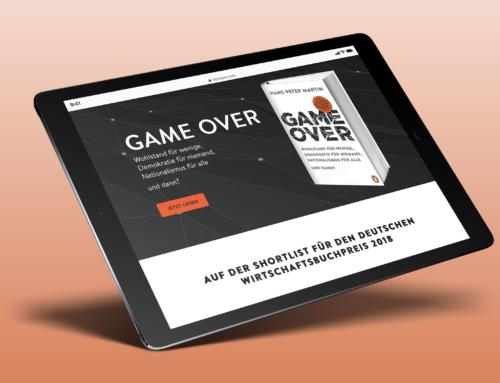 GAME OVER – Landingspage